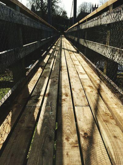Footbridge Leading Towards St Johns Town