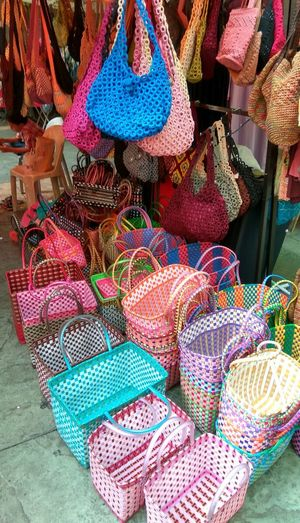 Streetphotography Kuala Lumpur Malaysia  EyeEm Best Shots Eyeemphotography Coloursareeverywhere Colours Flea Market Flea Market Finds Flea Market Mont.kiara Woven Together Woven Bags Woven Colours