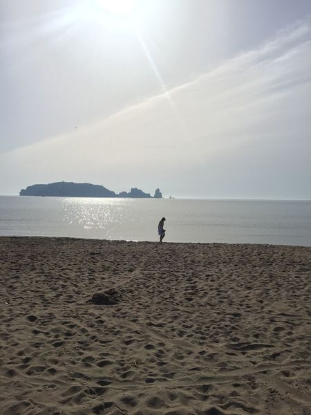 Water Sea Sky Land Horizon Over Water Beach Real People Scenics - Nature Beauty In Nature Horizon Nature Sunlight Non-urban Scene Day Leisure Activity Tranquility One Person Tranquil Scene Lifestyles Outdoors