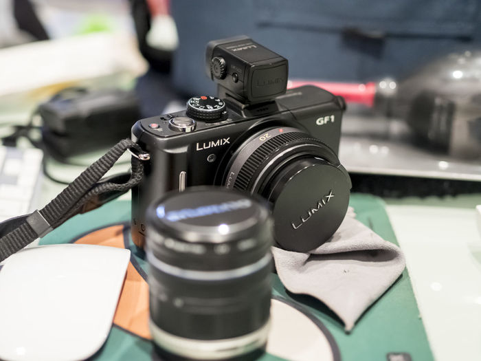 Camera Camera Close-up Digitalcamera Equipment Gf1 Indoors  Lumix Lumix DMC-GF1 Mirrorless Panasonic  Panasonicgf7 Single Object Still Life Table Technology Travel