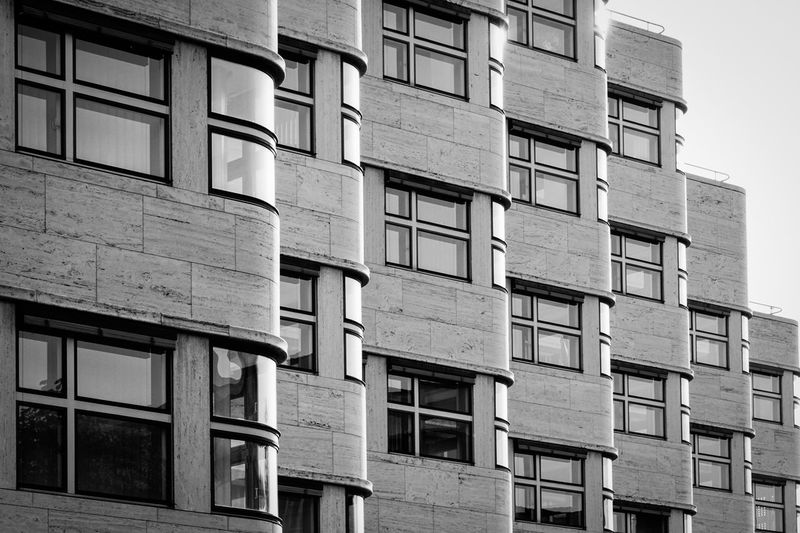 Bauhaus architecture ... Architecture Architektur Bauhaus Berlin Black & White Building Building Exterior Built Structure Exterior Façade Fenster Glass - Material Low Angle View Office Building Reflection Rei Residential Building Residential Structure Row Tiergarten Window