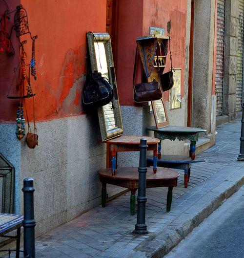 Antique Calle Rastro Abandoned Architecture Day Espejo Indoors  Mesa No People Street