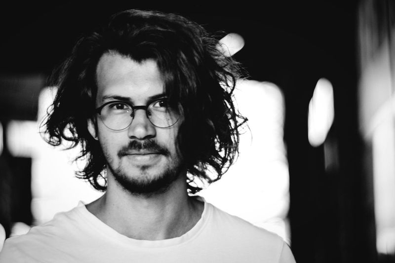 Portrait of confident man wearing eyeglasses