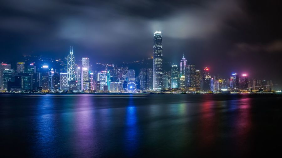 Night Harbour HK HongKong Discoverhongkong Leicaq Nightphotography Traveling Awesome EyeEm Best Shots Hello World From My Point Of View Our Best Pics EyeEm Best Edits Cityscapes Landscape EyeEm Masterclass EyeEm Gallery 香港 Cinema In Your Life The Architect - 2016 EyeEm Awards Reflection Walking Around Shadows & Lights Nightshooters Beautiful The Great Outdoors - 2016 EyeEm Awards Sky And Clouds