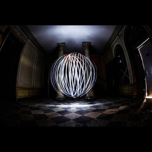 Lightpainting Manoir Colonnes