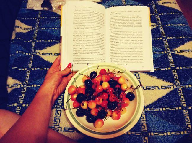 SweetCherry Food Cherry Love Reading Book Girl Sweet Nice Popular Photos