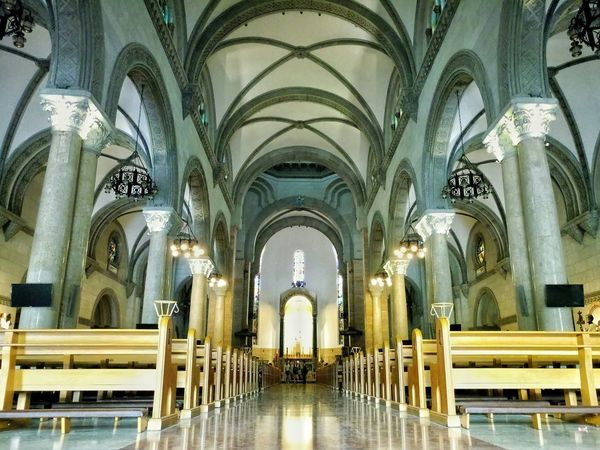 The famous Manila Cathedral. Eyeem Philippines Nature Photography EyeEm Best Shots Xperia XA Ultra Architecturelovers Place Of Worship Indoors  Arts Culture And Entertainment