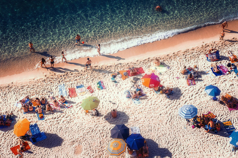 Beach Summer Sea Fun Ibiza Holiday Sand Land Group Of People Real People High Angle View Vacations Trip Large Group Of People Crowd Nature Day Men Leisure Activity Water Women Outdoors