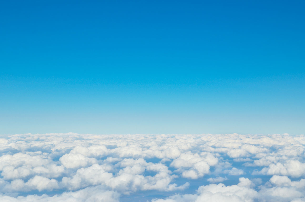 Scenic View Of Clouds And Clear Blue Sky On Sunny Day