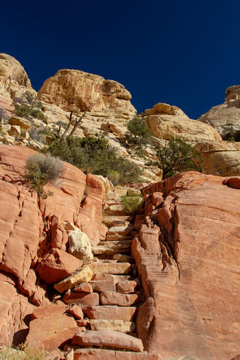 Rock formations, red rock canyon, nevada
