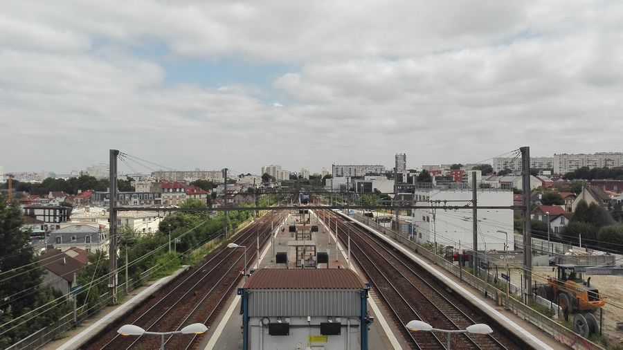 Departure Tourism Departure France Clamart High Angle View Train - Vehicle Commuter Train Railroad Station Platform Railroad Platform Platform Train
