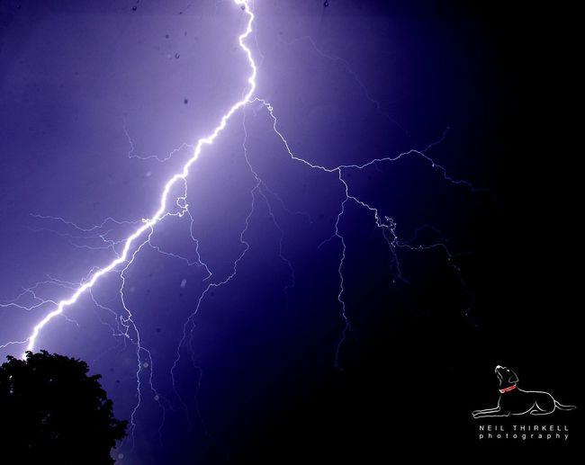Lightning over