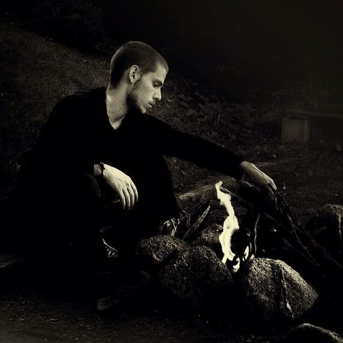 Staring into the flames of his own making. Portrait Black And White Fire Tadaa Community