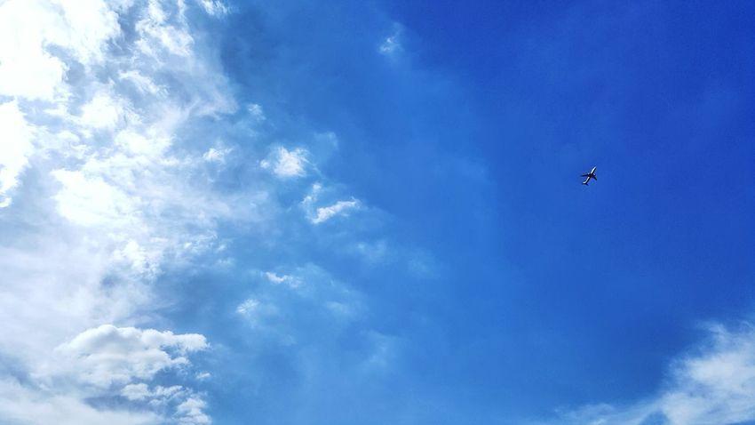 somewhere to go #180707 Airplane Blue Sky Cloud - Sky