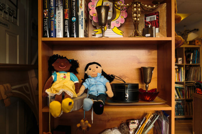 Two multi racial same sex dolls, seemingly holding hands, sitting on a book shelf in a second hand store, waiting to be sold or separated. Beautiful Couple Dolls Fun Home Ideas Lgbt Lifestyles Love Love Wins Love ♥ Metaphor Metaphorical On Sale Symbolism This Is Where I Live... Waiting Waiting ...
