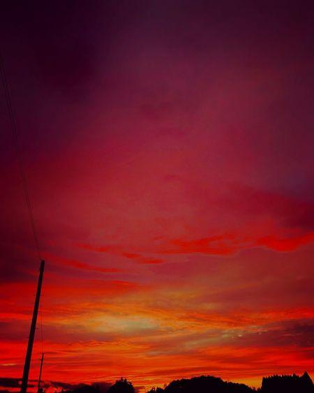 夕焼け 雨上がりの空 秋空 Sunset Sky Cloud - Sky Dramatic Sky Wonderful View EyeEm Best Shots - Sunsets + Sunrise Sunset #sun #clouds #skylovers #sky #nature #beautifulinnature #naturalbeauty #photography #landscape Sunset View. Sunset_collection Sunset Lovers Sky And Clouds Skylovers Sky_collection Autumn Purple Sky RedSky Japan Photography EyeEm Japan Beautiful