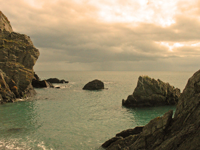 Port Jack - Isle of Man IOM Port Jackson Beauty In Nature Cloud - Sky Day Horizon Horizon Over Water Isle Of Man Land Nature No People Outdoors Rock Rock - Object Rock Formation Scenics - Nature Sea Sky Solid Stack Rock Tranquil Scene Tranquility Water