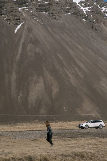 Girl Running One Person One Woman Only Iceland Mountain Mountain Range Environment Land Nature Landscape Water One Person Occupation Real People Rural Scene Outdoors Agriculture Scenics - Nature My Best Photo