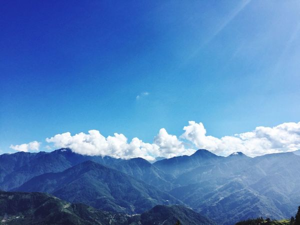 Blue Mountain Sky Nature Beauty In Nature Scenics Tranquility Landscape No People Outdoors Tranquil Scene Day