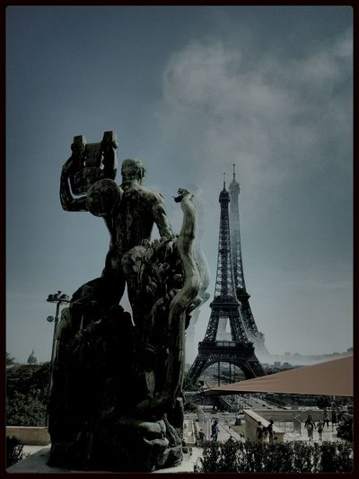 Lensblur of the Eiffel Tower in Paris At Palais De Chaillot