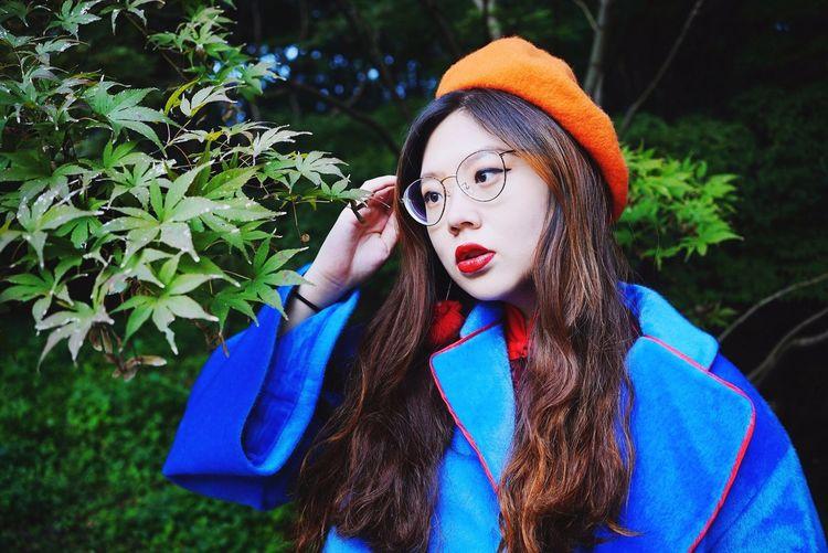 南京之秋 EyeEm Selects Young Women Warm Clothing Tree Portrait Beauty Beautiful Woman Headshot Women Forest Close-up