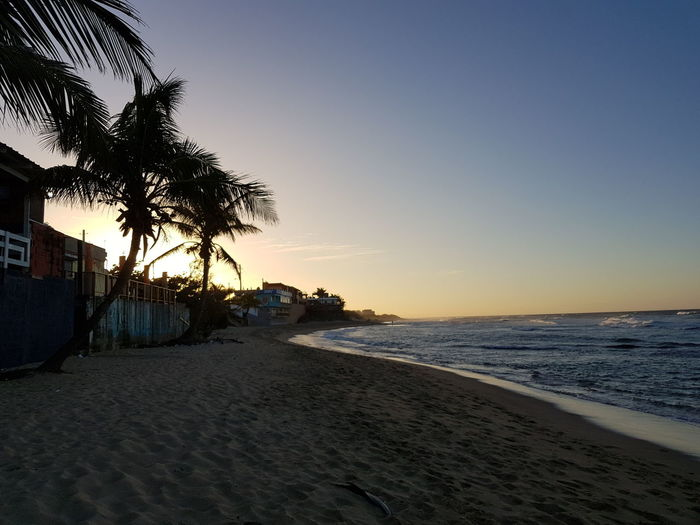 Beach Sea Sunset Sand Travel Destinations Silhouette Outdoors