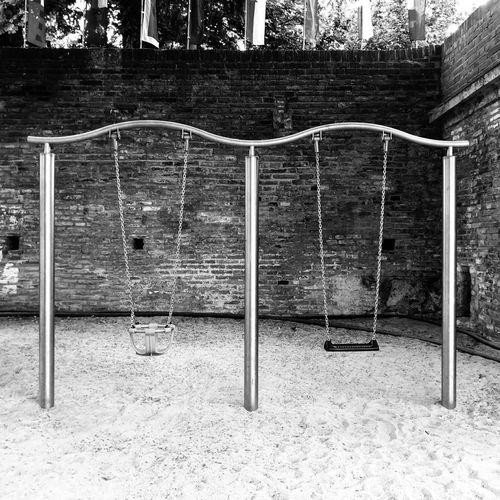 Empty Swing Playground Swing Missing Missing Someone Blackandwhite Black And White Bnw IPhoneX IPhone IPhone Photography Blackandwhite Photography No Kids Day Playground No People Metal Sport Nature Outdoors Absence Swing Empty Outdoor Play Equipment