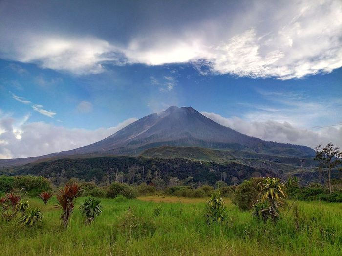 Sinabung mountain Volcano Mountain Cloud - Sky Nature Scenics Landscape Beauty In Nature Grass No People Volcanic Landscape Outdoors Sky Day Mission