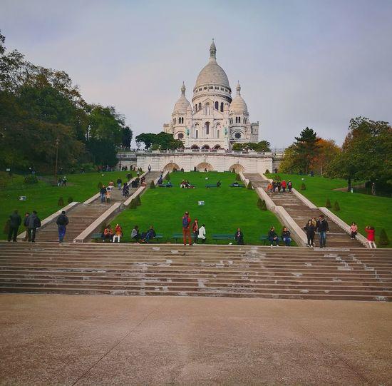 Basilica De Sacre Coeur Paris Montmartre Architecture Sky Destinations Beauty Cultura City Travel