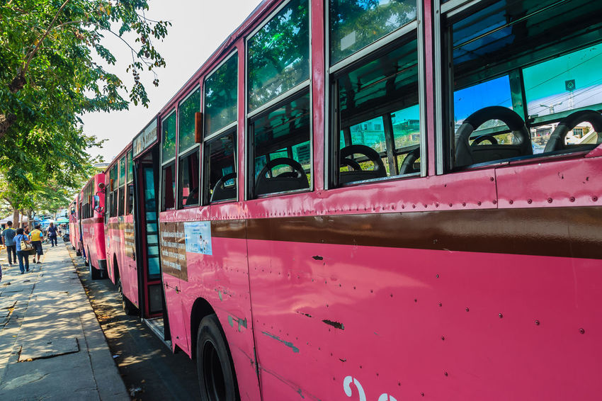 Bangkok, Thailand - March 2, 2017: Pink bus line number 8, starting point from the memorial bridge (Saphan Phut) to Happy Land, Minburi. Bus nummber 8 line is famous of fast and swiftly in Bangkok. Bus Trip Bus Terminal Station - Entrance Number 8 Pink Pink Bus Saphan Phut Architecture Bus Bus Line Bus Terminal Bus Travel Car City Day Fast And Furious Fast And Furious 8 Fast And Swiftly Happy Land Incidental People Land Vehicle Memorial Bridge Minburi Mode Of Transportation Motor Vehicle Nature Outdoors Public Transportation Rail Transportation Real People Street Swiftly Train Transportation Travel Tree Window