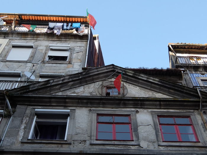 Built Structure Euro 2016 Flags Green & Red Outdoors Porto Portugal