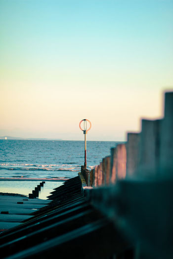 Portrait view of portobello beach in the morning
