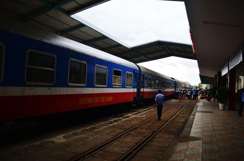 Taking the train in Vietnam Train Vietnam Da Nang Reunification Express Backpacking