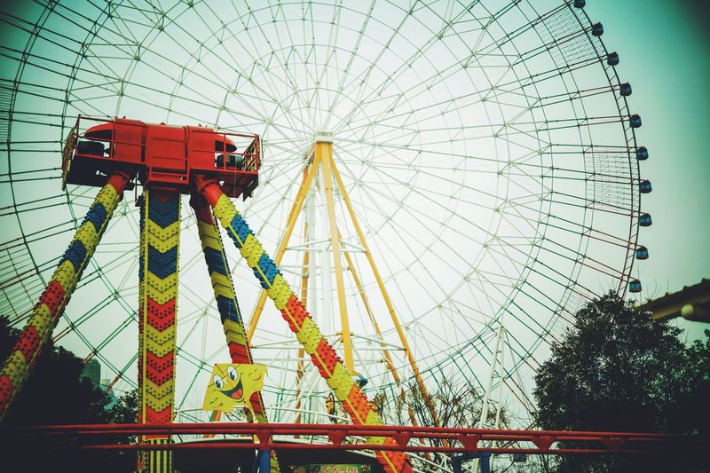 Winter Wonderland Kites Ferris Wheel Street Photography