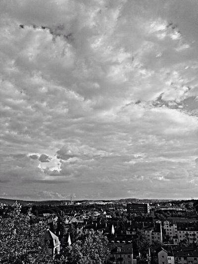 Black & White City High Clouds