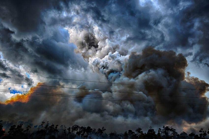 Smoke Clouds Fire Sky Hobesound