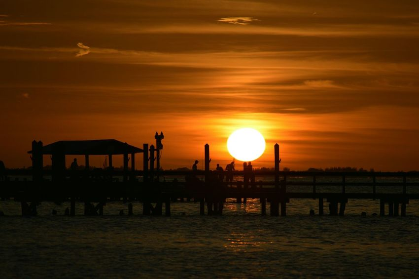 Protecting Where We Play Enjoying Life Hanging Out Sunset_collection Fishing Pier United States Florida Digitalu Silhouette Hidden Gems  43 Golden Moments Bokeelia Swflorida Beauty In Nature Tranquil Scene Scenics Seascape