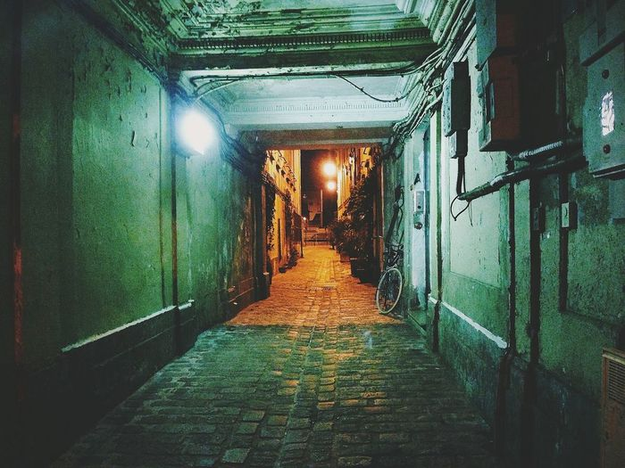 Walkway leading to tunnel