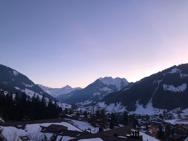 Pinky blue sunset sky Pretty In Pink I❤️Gstaad EyeEmNewHere Shades Of Winter Pink Sky Sunset Bolonie Style Bolonie Art Bolonie Snow Winter Cold Temperature Nature Mountain Beauty In Nature Scenics Tranquil Scene Mountain Range Weather Landscape Day Tranquility Sky Tree Sunset No People Clear Sky Building Exterior Outdoors An Eye For Travel