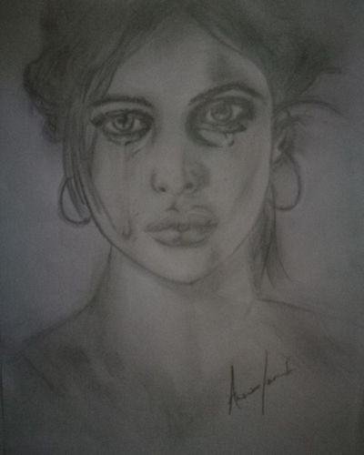 Ritratto Ritratto, Portrait Matitabiancoenero Beautiful Woman Cry Woman Beauty Women