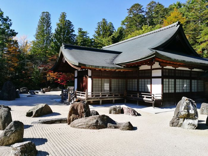 No People Architecture Tree Day Outdoors Built Structure Sky Nature Koyasan Japan HuaweiP9 Japan Kongobuji Temple