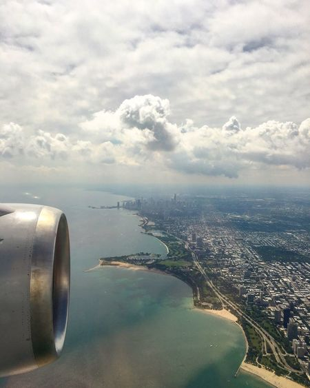Transportation Flying Chicago Skyline Chicago Aerial View Travel Journey Jet Engine Architecture City Fresh On Eyeem