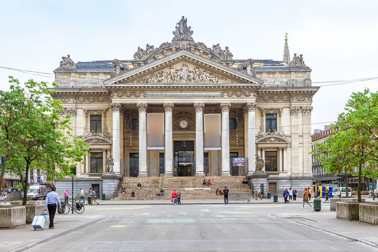 Opera La Monnaie in Brussels, Belgium Architecture Travel Tourism History City Brussels Belgium La Monnaie Europe Cultures Building Exterior Sighseeing Springtime Opéra Operahouse Opera House Traveling Travel Street Destination Vacations View