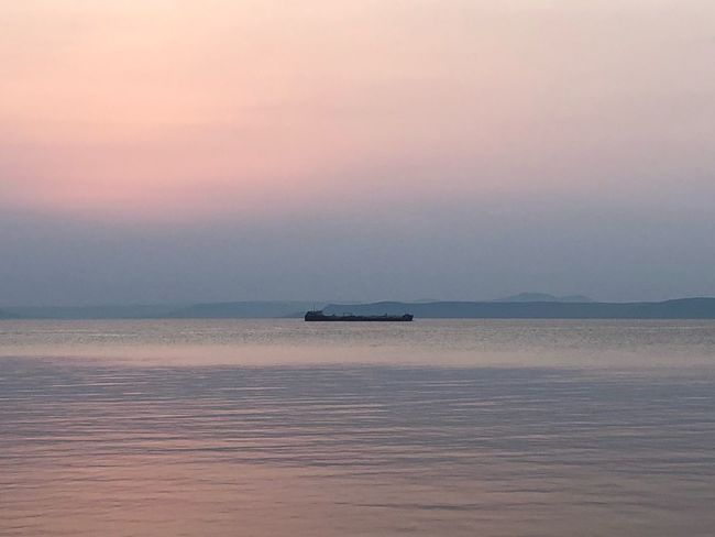 Sea Sky Sunset Water Beauty In Nature Scenics - Nature Horizon Over Water Nature Land Beach Tranquility Outdoors Horizon Nautical Vessel No People Tranquil Scene Cloud - Sky