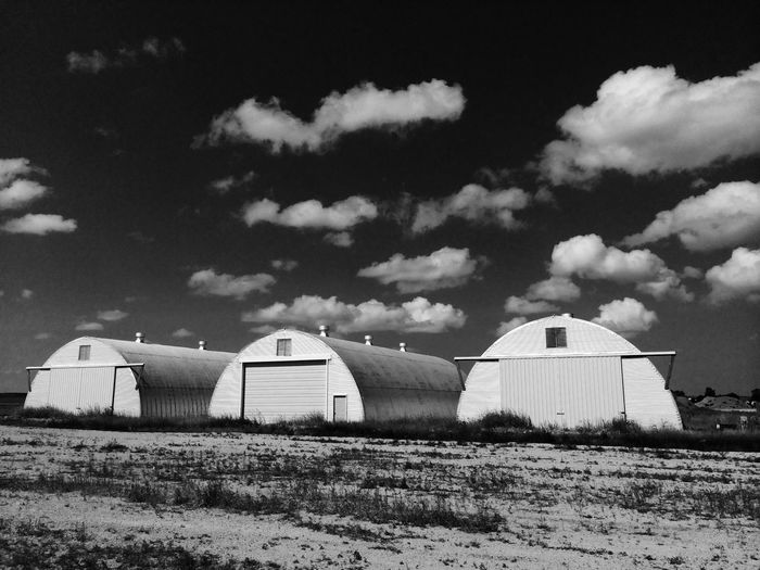 Three Barnes in South Dakota, USA South Dakota Black And White USA Cloud - Sky Sky Land Built Structure Field Landscape Architecture Cloud - Sky Sky Land Built Structure Field Landscape Architecture