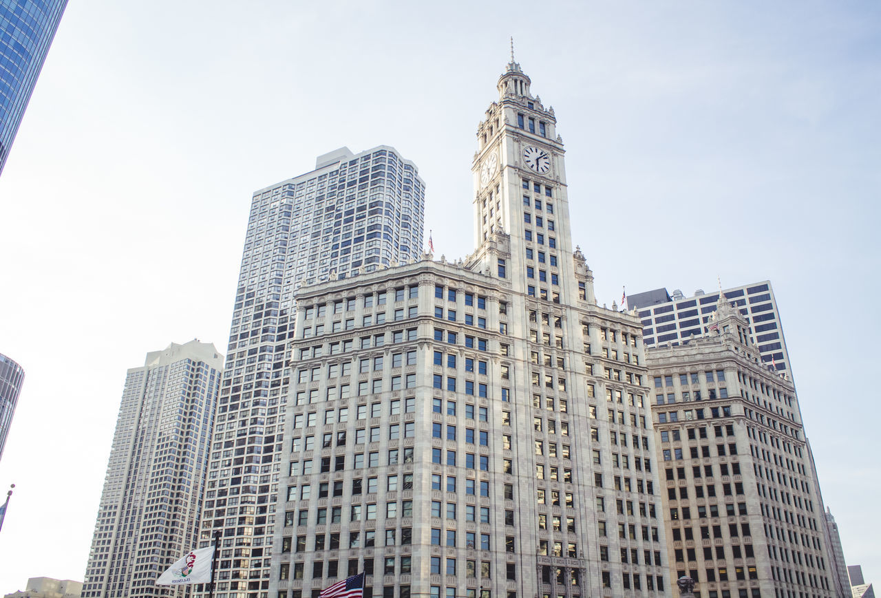 Low Angle View Of Wrigley Building Against Sky
