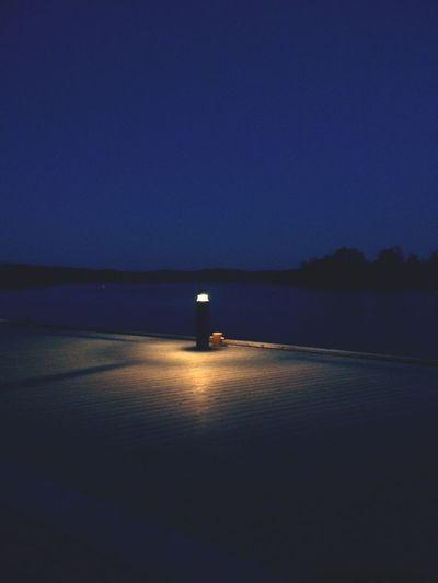 Light Summernight Streetlight Harbour