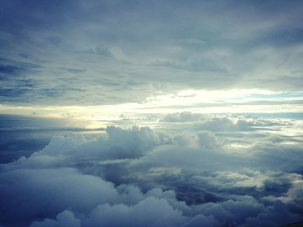 """"""" We love sky 2 """" Cloud - Sky Sky Blue Beauty In Nature Outdoors Cloudscape We Fly Smiles Thailand Hello World On The Way A Bird's Eye View My Way Love To Take Photos ❤ Love Is In The Air Photo♡ Office Window Mook"""