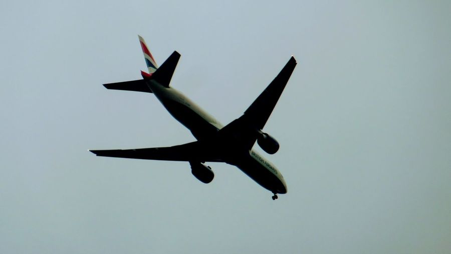 British Airways Airplane Flying Airshow No People Day Outdoors