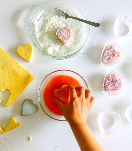 Baking jam hearts